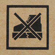 The Symbol On Cardboard Stock Photo