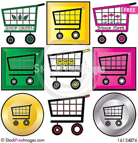 Free Shopping Carts Illustration Royalty Free Stock Image - 16134876