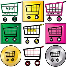 Free Shopping Carts Illustration Royalty Free Stock Image - 16134876