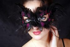 Free Beautiful Young Girl With Mask Royalty Free Stock Photo - 16136595