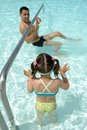 Free Playing In Pool Royalty Free Stock Image - 16147776