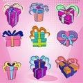 Free Gift Box Set Royalty Free Stock Photos - 16149068