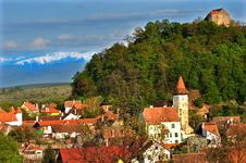 Free Village Of Cisnadioara View Stock Photography - 16146802