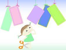 Free Girl With Scissors Stock Photos - 16146853
