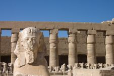 Free Statues In The Ancient Temple. Luxor. Egypt Stock Photo - 16146930