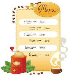 Free Template Menu Of Coffee Royalty Free Stock Photo - 16148195