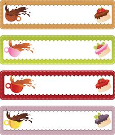 Free Drink And Dessert Banners Royalty Free Stock Image - 16148346