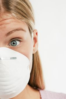 Free Young Woman With Protecting Mask Stock Image - 16148351