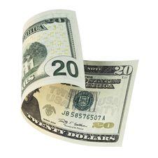 Free Twenty Dollar Banknote Royalty Free Stock Photo - 16148825