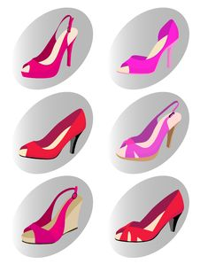 Free Fashion Woman Shoes Royalty Free Stock Images - 16148909