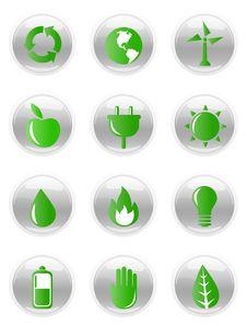 Ecology Icon Set Royalty Free Stock Images