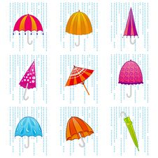 Free Umbrella Set Stock Image - 16149251