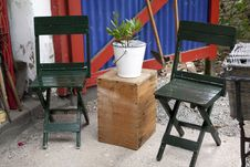 Free Two Green Chairs Stock Photo - 16149720