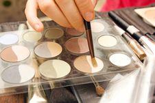 Free Brushes To Make-up Royalty Free Stock Photo - 16149735