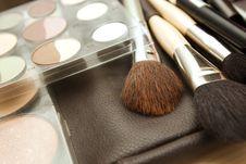 Free Brushes To Make-up Royalty Free Stock Image - 16149746