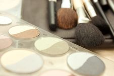 Brushes To Make-up Royalty Free Stock Photo