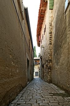 Narrow Street Of The Medieval Town Stock Photo