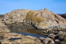 Rock Pool Near The Sea Royalty Free Stock Images