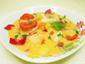Free Yellow Vegetable Soup With Tomato And Pasta Royalty Free Stock Photos - 16150828