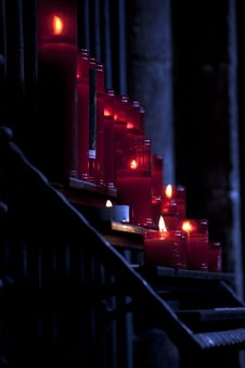 Free Candles In Church Stock Photography - 16150072