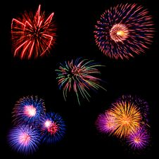 Free Colorful Firework Stock Image - 16150431