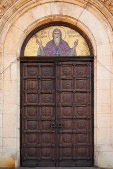 Free Alexander Nevsky Church Door Royalty Free Stock Photography - 16150607