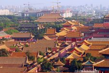 Roofs Of The Forbidden City Royalty Free Stock Image