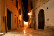 Narrow Street Of The Medieval Town Royalty Free Stock Photography