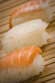 Free Varied Nigiri Royalty Free Stock Image - 16151406