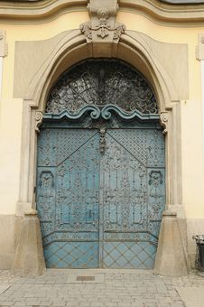 Blue Old Door Royalty Free Stock Image