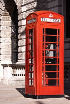 Free Telephone Box In London Stock Image - 16152811