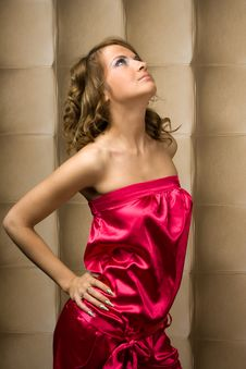 Free Sexy Girl In Pink Dress Stock Photography - 16152972