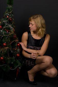 Free Christmas Girl Stock Image - 16153081