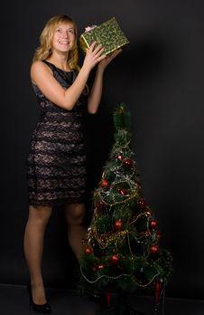 Free Christmas Girl Stock Photos - 16153083