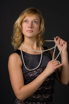 Free Girl With Beads Stock Photos - 16153093