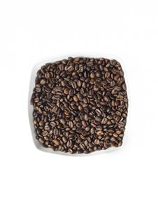 Free Dish Full Of Coffee Seeds Royalty Free Stock Photos - 16154058