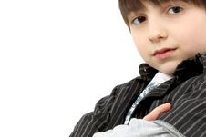 Free Adorable Six Year Old Casual Boy Stock Images - 16154304