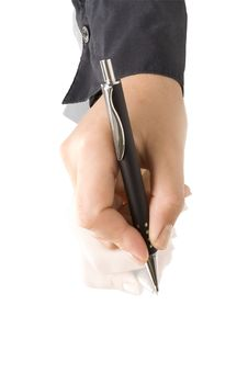 Free Hand With Pen Writing Royalty Free Stock Image - 16154376