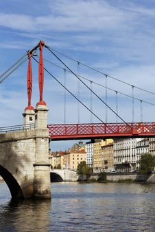 Free Footbridge In Lyon Stock Photos - 16154593