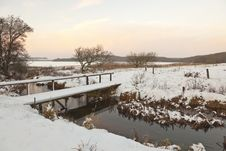 Free Brook In Winter Time. Royalty Free Stock Photos - 16155108
