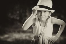 Boy In Hat Stock Images