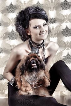 Free Lady With Her Dog Royalty Free Stock Photography - 16155587