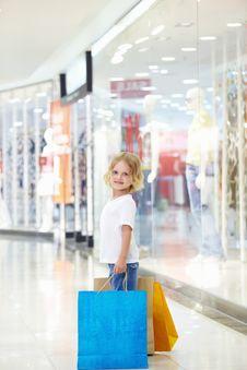 Little Shopper Stock Photo