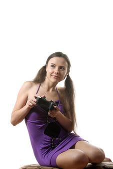 Free Girl Gamer Royalty Free Stock Photos - 16156758