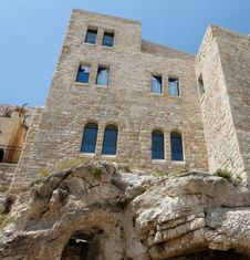 Building On The Rock In Old City Of Jerusalem Stock Photos