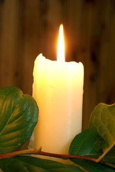 Free Burning Candle Royalty Free Stock Image - 16157546