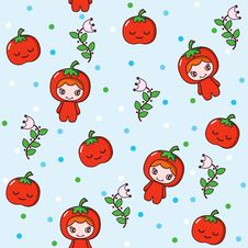 Free Tomato Girl Stock Images - 16158404