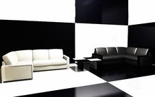 Free Sofas Beside Wall Stock Image - 16158461