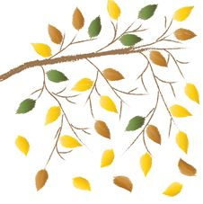 Free Branch With Autumn Leaves Royalty Free Stock Photo - 16158675