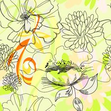 Free Floral Seamless Pattern Stock Image - 16158831